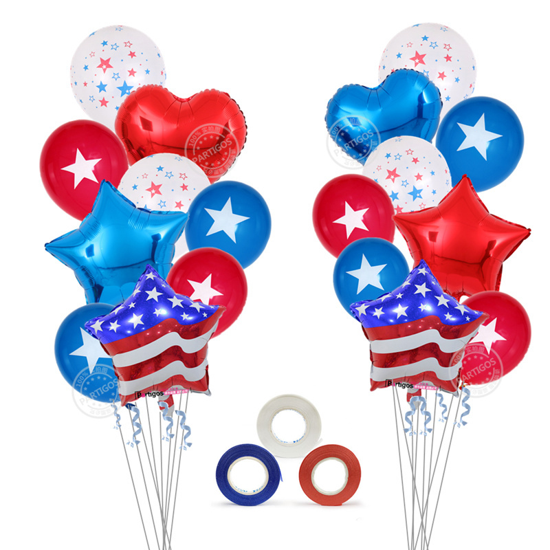 Специальные принадлежности для декора Дня независимости США вечерние поставки звезды и полосы фольги Воздушные шары капитан глобс