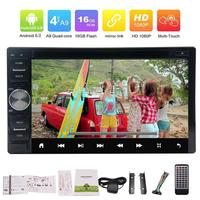 Android 6 0 2Din Car Radio Stereo HD DVD Player GPS Nav Bluetooth Car Styling Cassette