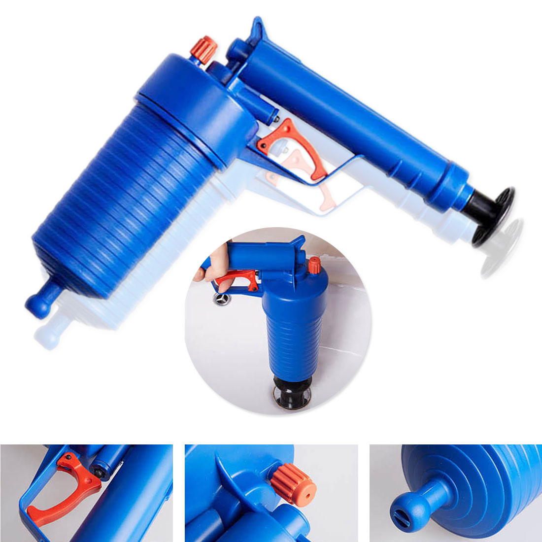 Pipe Clog Remover Air Drain Pump Toilets Bathroom Kitchen Cleaner Kit with 4 adapters pipe suction cup toilet plungerPipe Clog Remover Air Drain Pump Toilets Bathroom Kitchen Cleaner Kit with 4 adapters pipe suction cup toilet plunger