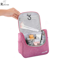New Travel Cosmetic Storage Bags Men Women Waterproof Band Hook Up Fold Wash Bag Make Up Organizer Toiletries Beauty Pouch Case soomile 2018 new travel cosmetic bag hanging make up bags waterproof men women portable wash supplies storage bags for suitcase