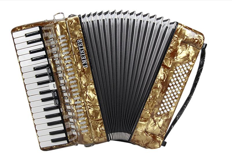 Keyboard For Beginners >> Musical Instrument J.MEISTER 34 keys 60 bass MVB1308B Germany import reed professional accordion ...
