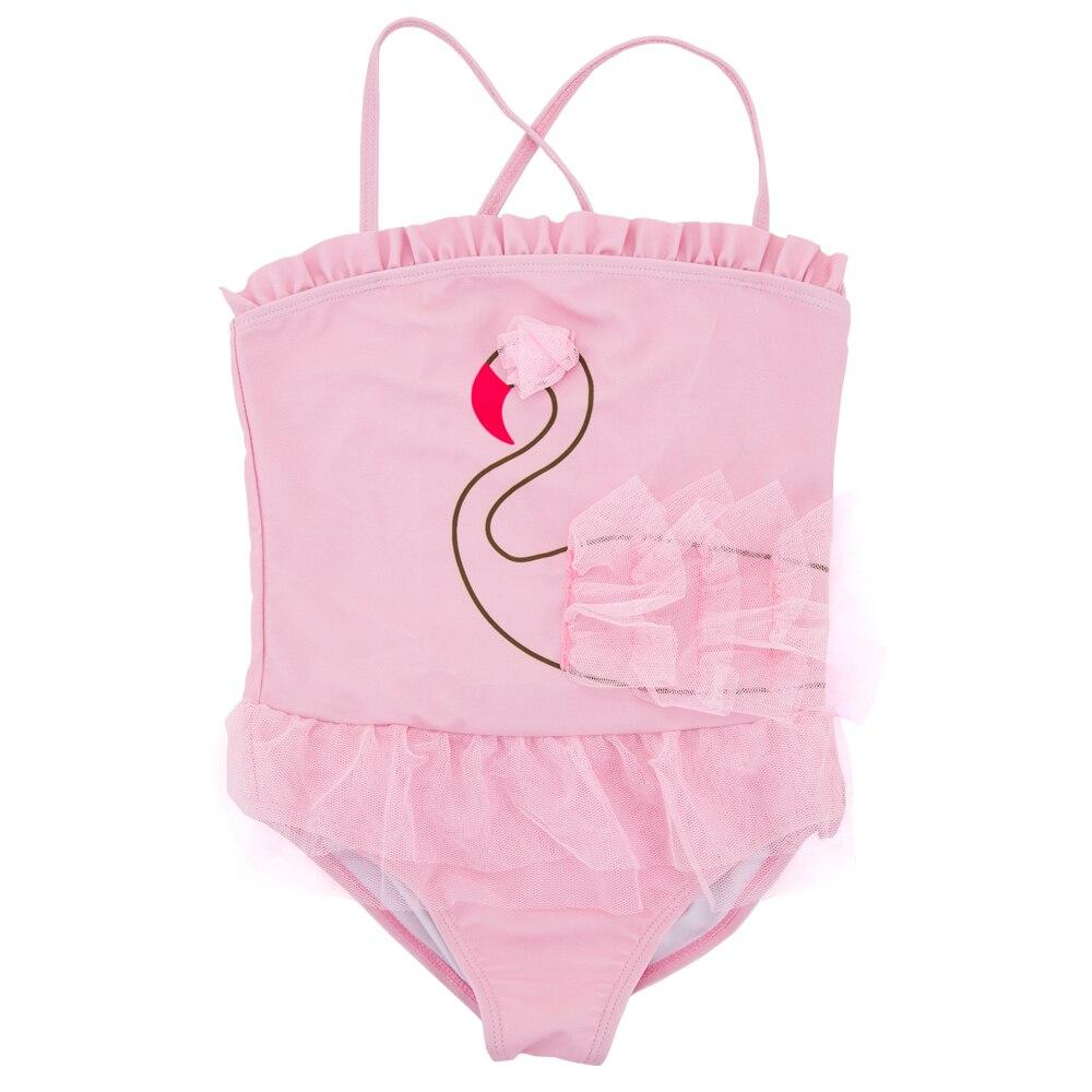 Kavkas Girls Swimwear Baby Dress 2017 Summer New Style Cute Pink 12-6T Girls Bathing Swimsuit Kids Swim