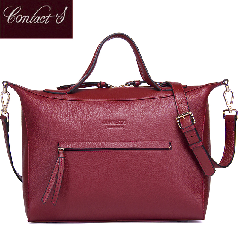 New Fashion Crossbody Bags for Women Genuine Leather Handbag Large Capacity Shoulder Bag Red Messenger bag High Quality