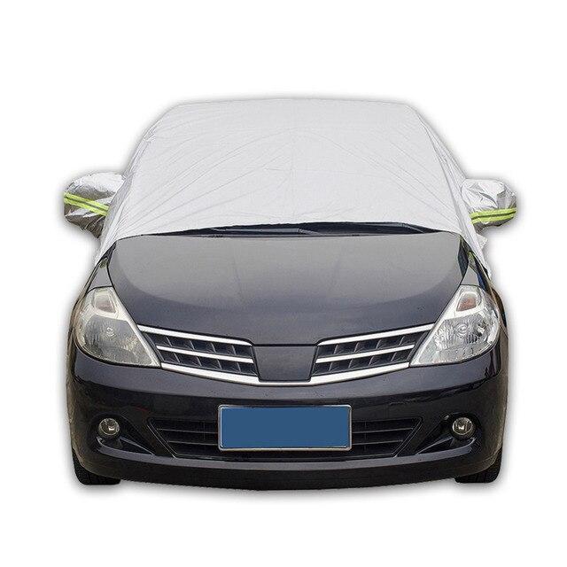 Cubierta de coche duradera sol UV nieve polvo lluvia resistente medio cubre coche Styling3.2Mx1.75M