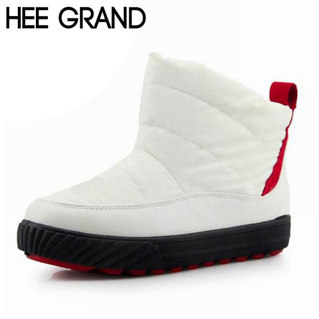 Hee grand mulher botas de inverno à prova d' água quente plush fur botas de neve fundo grosso anti-escorregadio sapatos mulher tamanho grande 40 xwx236