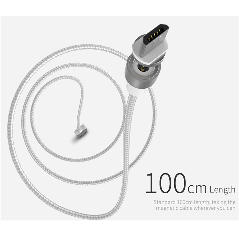 Original Wsken X Cable Round Magnetic Micro Usb Ios Cable Charging