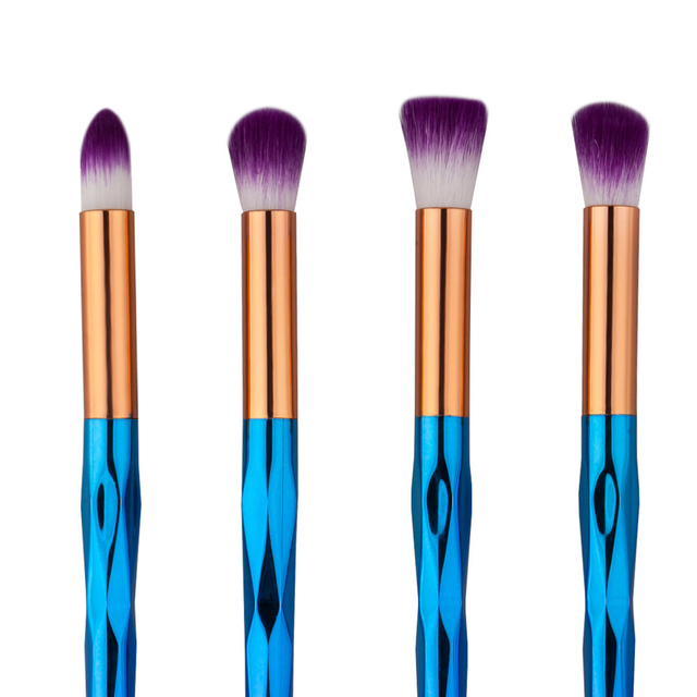 4pcs Eyeshadow Brush Set Diamond Shape Rainbow Makeup Brushes Cosmetics Dropshipping Beauty Puerple Hair Make Up Brush
