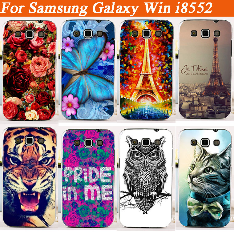 Cheap Fashion Painting Case For Samsung Galaxy Win i8552 i8550 Cover For Samsung Galaxy Win i8558 back case Free Shipping