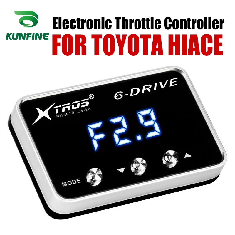 Car Electronic Throttle Controller Racing Accelerator Potent Booster For TOYOTA HIACE Tuning Parts AccessoryCar Electronic Throttle Controller Racing Accelerator Potent Booster For TOYOTA HIACE Tuning Parts Accessory