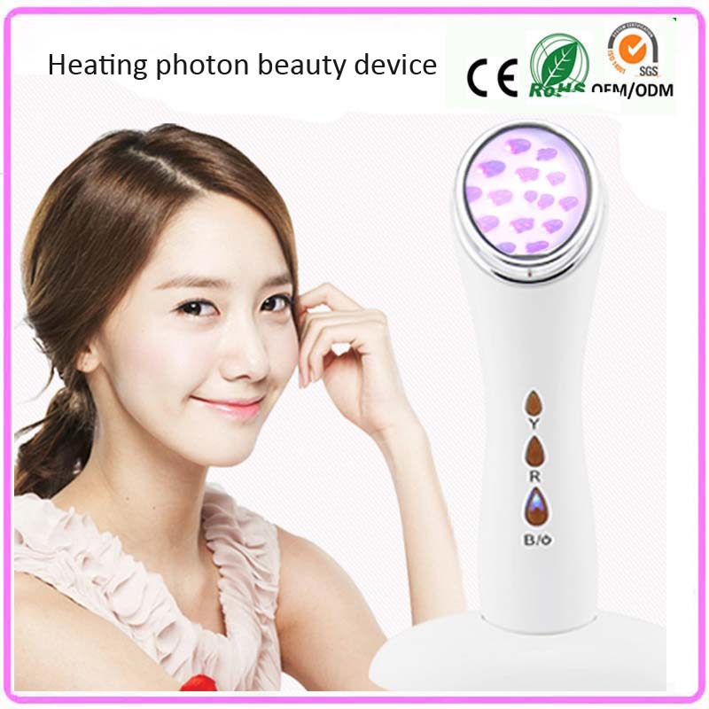 Portable Skin Warming Devices Led Photon Light Therapy Facial Beauty Anti Aging Acne Ttreatment Wrinkle Removal Devices portable home use blued led light photon therapy anti aging acne scar mark treatment skin care beauty facial massager machine