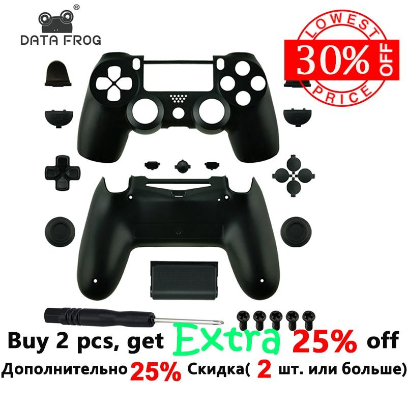 Reemplazo de la carcasa y botones mod kit para jds 040 DualShock 4 PlayStation 4 PS4 Pro Slim controlador cubierta caso