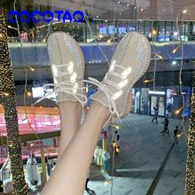 Reflective Flying Weaving Sports Shoes Female Korean Version Baitie Socks Summer 2019 New Air-permeable Student Lei40