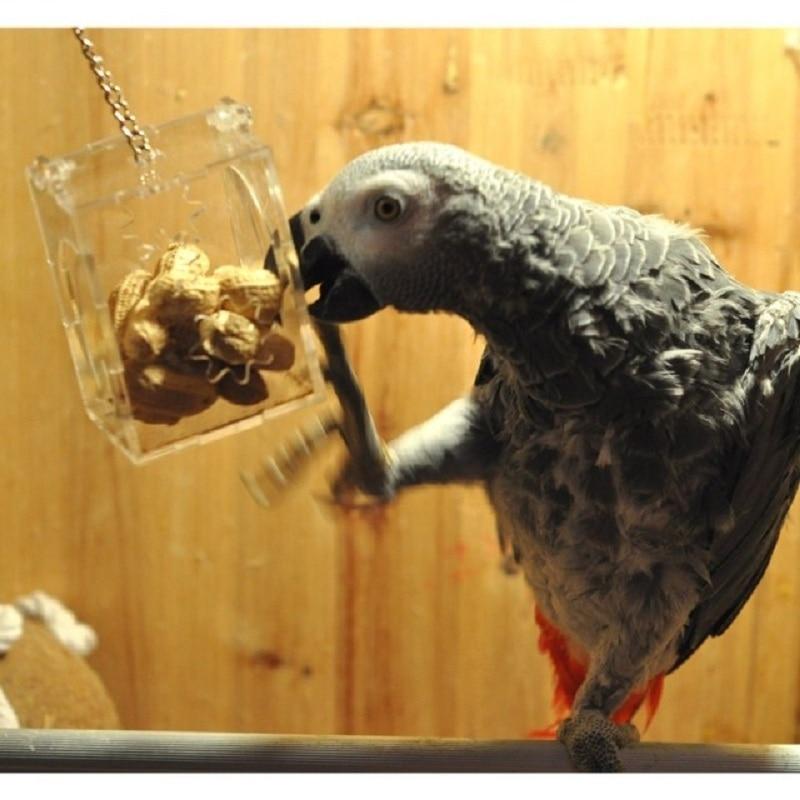 Parrot Bird Toys Hang Foraging Pet Treat Hunt Macaw Cockatoo