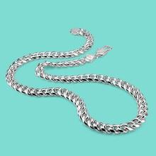 Ожерелье стерлингового серебра 925 Мужская мода серебряное ожерелье Мужская мода ювелирные изделия твердых серебряное ожерелье 66 см подарок на день рождения