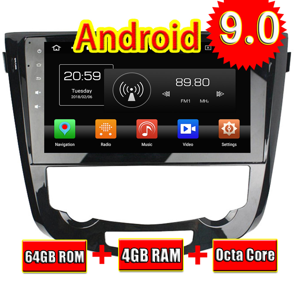 Topnavi Android 9.0 Car Media Center Player For Nissan Qashqai Auto 2013 2014 2015 2016 Radio Stereo 2 DIN GPS Navigation NO DVD