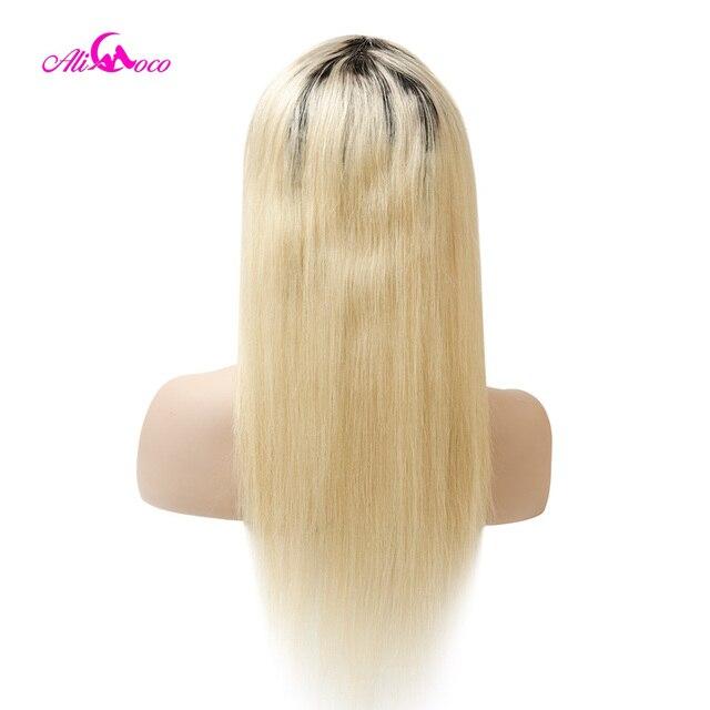 Ali Coco #613/1b/613 brazylijski prosto pełna peruki typu lace z ludzkich włosów 130%/150%/180% gęstość Remy włosy przednie peruki z dziecięcymi włosami