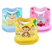 Detachable Baby Bibs Waterproof  Toddler Kids Aprons Bib Infant Saliva Towels Cute Cartoon Feeding