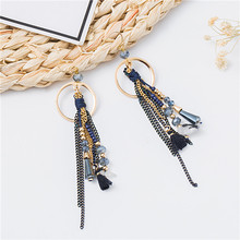 Youga Womens Vintage Tassel Feathers Earrings TrendyHangging Drop Ethnic Fashion Elegant Metal Chain Earring Jewelry