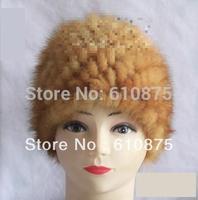 אשת סתיו 100% מינק פרווה עבה נשי כובעי בימס skullies החורף רחב מימדים פרוות שועל חם לסרוג למתוח עבה להגן על אוזן כובעי