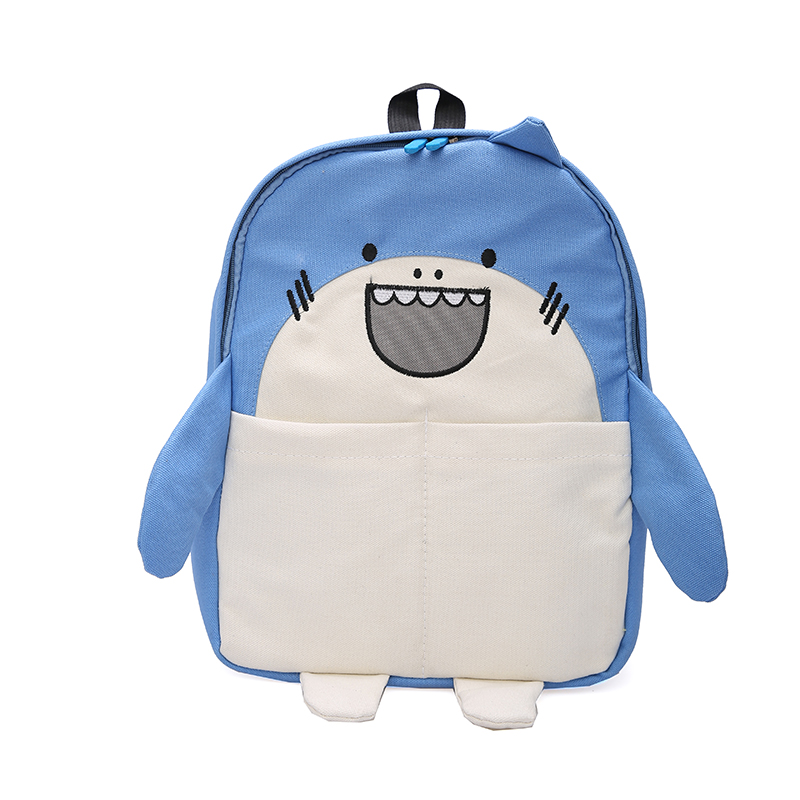Cute Cartoon Shark & Hamster Women Lady Mini Backpack Panelled Casual Canvas Funny 2019 New Spring Style Backpack School Bag