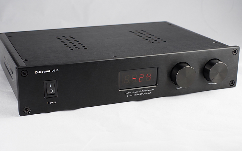2017 D.Sound D310 High Quality Full Digital Audio Amplifier Input USB/Optical/Coaxial/AUX 120W*2 24Bit/192KHz AC110V-240V Remote fx audio d302 hifi pure digital amplifier 30w 2 192khz 24bit coaxial fiber optics usb input ta2024 ta2021 dc15v 4a power supply