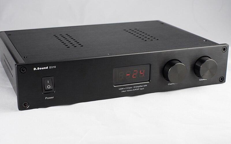 2018 D.Sound D310 High Quality Full Digital Audio Amplifier Input USB/Optical/Coaxial/AUX 120W*2 24Bit/192KHz AC110V-240V Remote