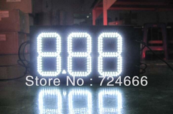 low price outdoor waterproof led gas petrol price display
