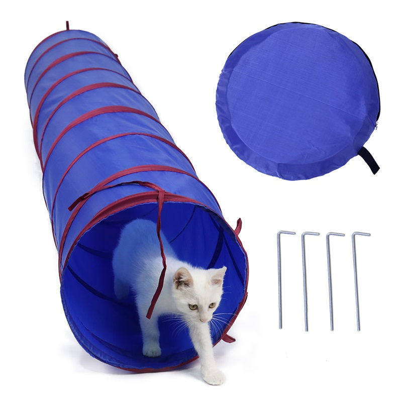 2M Long Cat Tunnel Funny Pet Cat Tunnel Dia 30cm Cat Play Tubes Collapsible Kitten Dog Toys Puppy Ferrets Rabbit Play Toys in Cat Toys from Home Garden