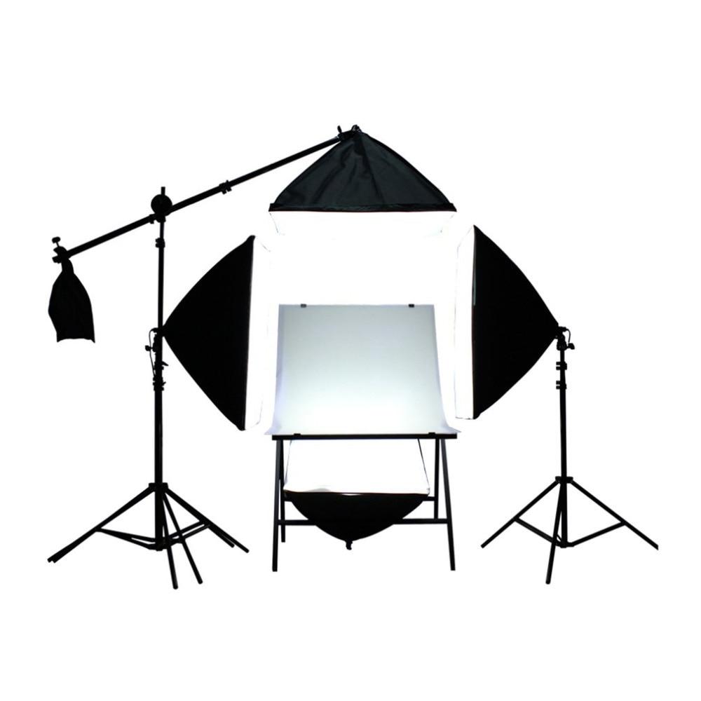 4PCS Flash Softbox Lightbox +3 Light Stand Photography Continuous Lighting Lamp Kit for Photo Flash Speedlite Studio Shooting mini portable folding lightbox photography photo studio softbox lighting kit light box for iphone samsang digital dslr camera