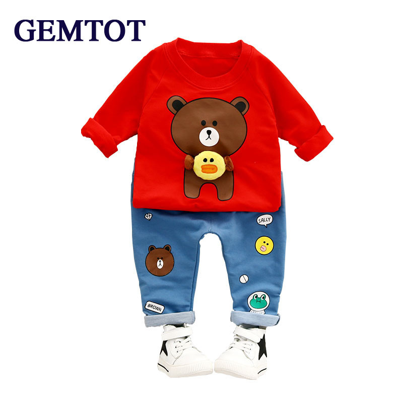 GEMTOT Boys Clothes Suit 2017 Summer Style Children Clothing Sets T-shirt+Pants 2pcs Baby Boys Girls = Sports Suit Kids Clothes