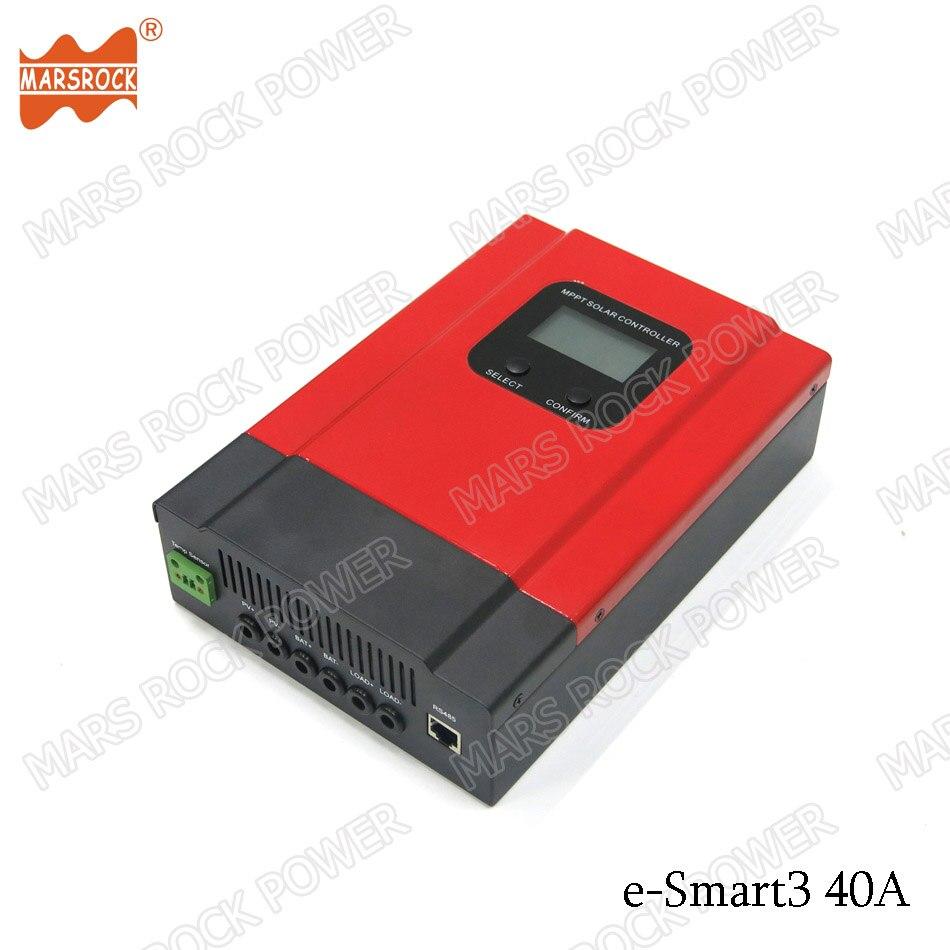 40A smart mppt solar controller for 12V, 24V, 36V, 48V PV system with RS485 communication function me esmart3 12v 24v 36v 48v rs485 smart mppt solar charge controller 20a 30a 40a