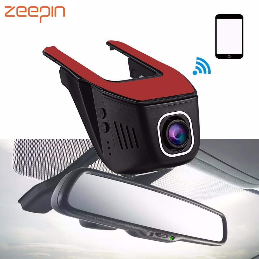 Zeepin RS400 Novatek Car Hidden Dash Cam DVR 1080P 170 Degree FHD WDR WIFI Vehicle Driving Recorder Camcorder