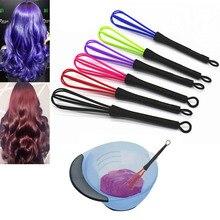 Профессиональный пластиковый случайного цвета Салон Парикмахерская рекламная Краска Крем венчик смеситель краски для волос парикмахерская мешалка для укладки волос