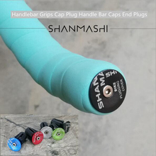 1 Pair Cycling Handlebar Cap Bicycle Grips Aluminum Alloy Bike Handle Bar End Plugs Bicycle Parts Black  Red  blue Silver qc h 298 replacement motorcycle aluminum alloy mechanical cutting handle grips black pair