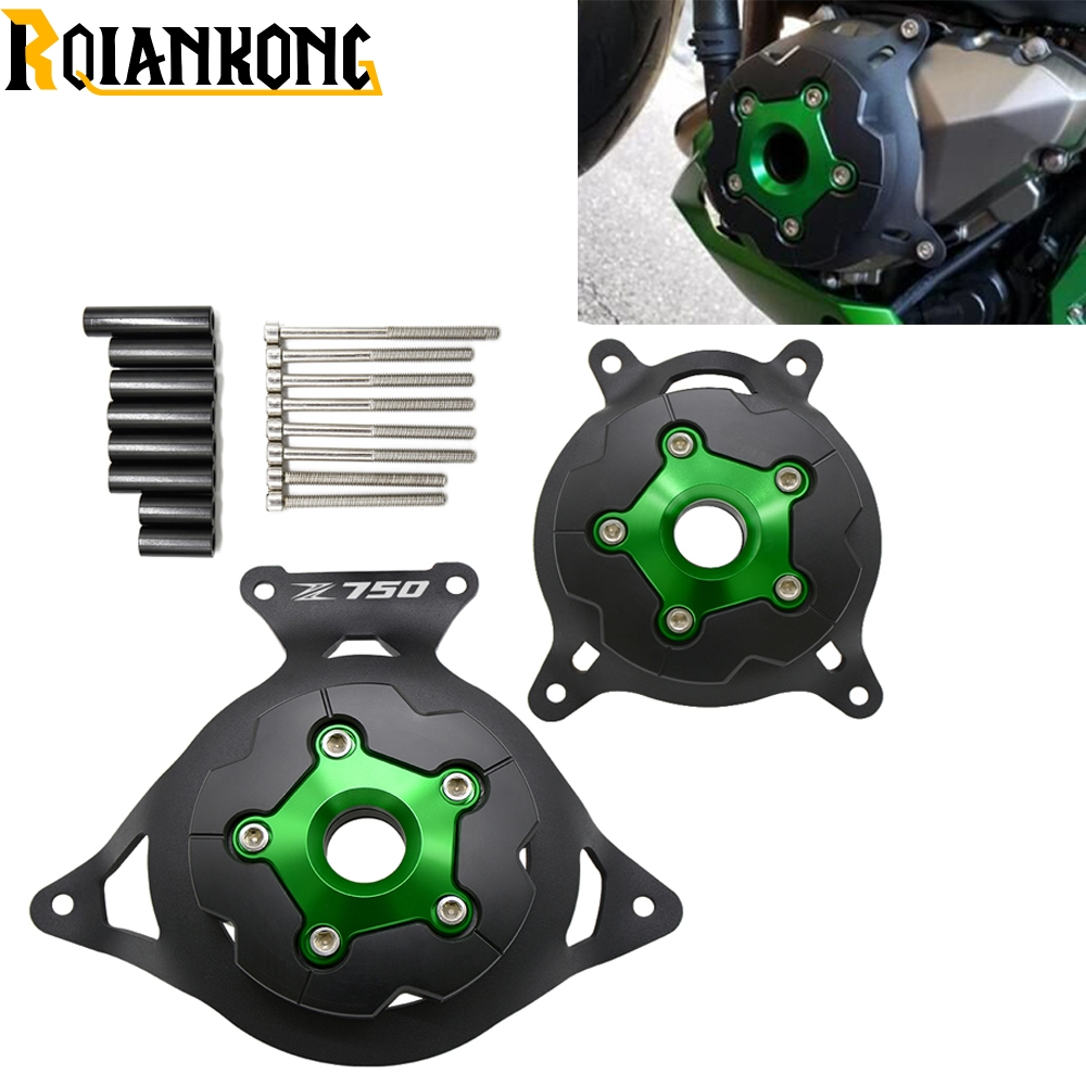 For Kawasaki Z750 2008-2016 Motorcycle accessories Engine Stator Cover Engine Guard Protection Side Shield Protector logo z750 10 x audio speaker screw banana plugs connectors 4mm in stock free shipping pn35