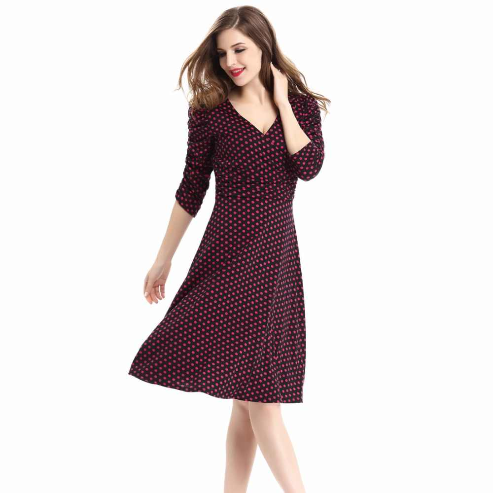81361b69c54c7 Vintage Skater Pencil Dresses For Women Plus Size XXL XXXL Short Sleeve A  Line Dress Floral Dots Casual Summer Short Sleeve