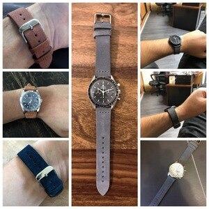 Image 2 - EACHE 18mm 20mm 22mm Kordonlu Saat 100% Süet Deri saat kayışı erkekler kadınlar için saat kordonları