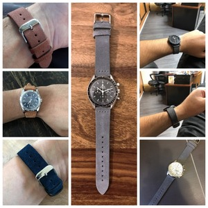 Image 2 - EACHE 18mm 20mm 22mm Watchband 100%  Suede Leather Watch Strap  for men women Watch bands