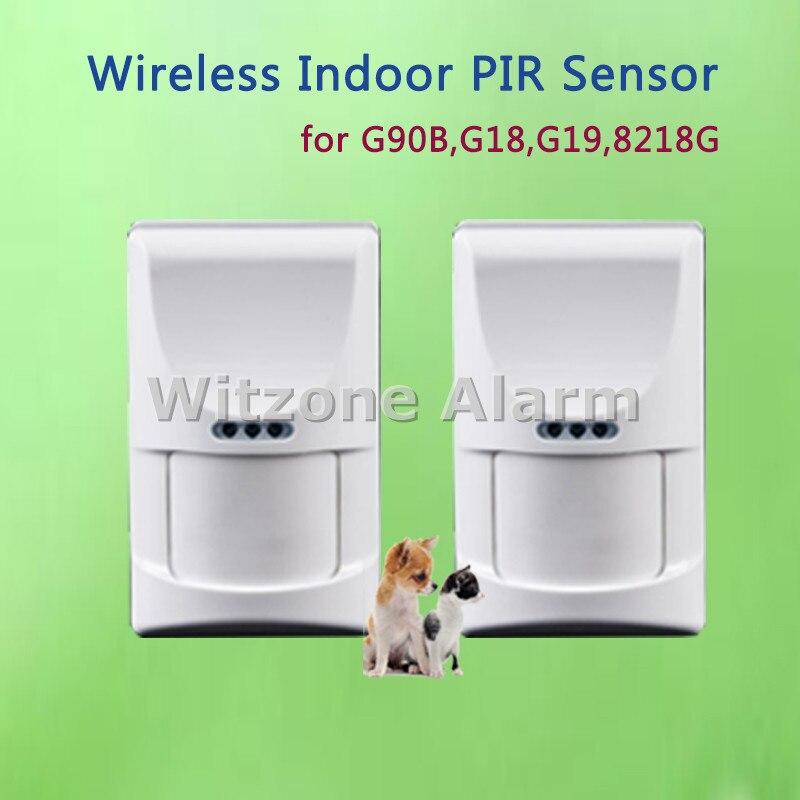 2pcs Indoor Pet PIR 433MHz Anti-tamper Motion Sensor Low Power Consumption for GSM PSTN Alarm System KR-8218G,G18,G19,G90B 2 pcs fi5 g18 bp6l q12