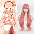 Vocaloid Megurine Luka Cosplay Wig Long Wavy Pink Heat Resistant Synthetic Wigs Cheap Wigs For Black Women Fashion Party