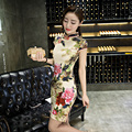 2017 Original Design Women Cheongsam Comfortable Chinese Tranditional Dress Qipao Collar Slim Mandarin Coat robe chinoise longue