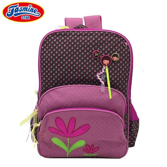 9f6c1a62aa JASMINESTAR Children s Backpacks School Bag Teens Large Capacity Primary  Student Waterproof Floral Print School Bags For Girls