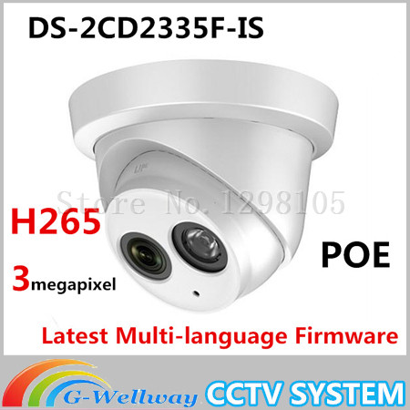 Original DS-2CD2335F-IS 3MP CCTV network IP dome camera with mic built in DS-2CD2335F-IS fever short gloves with bow красные короткие перчатки