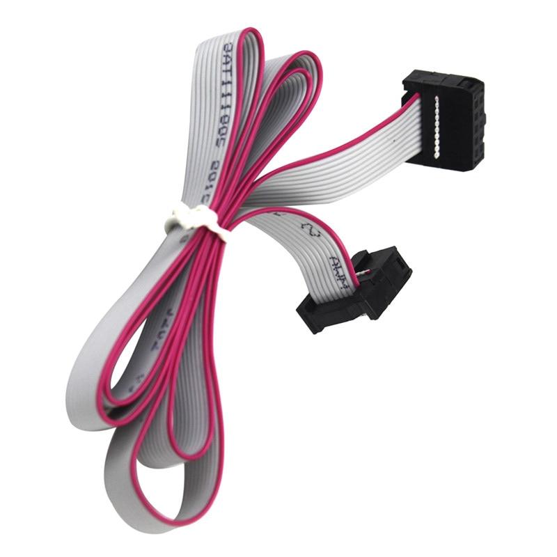 10 P 60 cm 12864 LCD 2004 LCD câble d'extension MKS Prusa rampes RepRap Anet i3 FT5 3D 10pin ruban plat Date câble fil de plomb