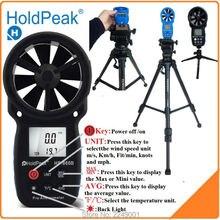 HoldPeak HP-866B Anemometro цифровой анемометр ветер скорость измерения ветер устройства ручной с сумка