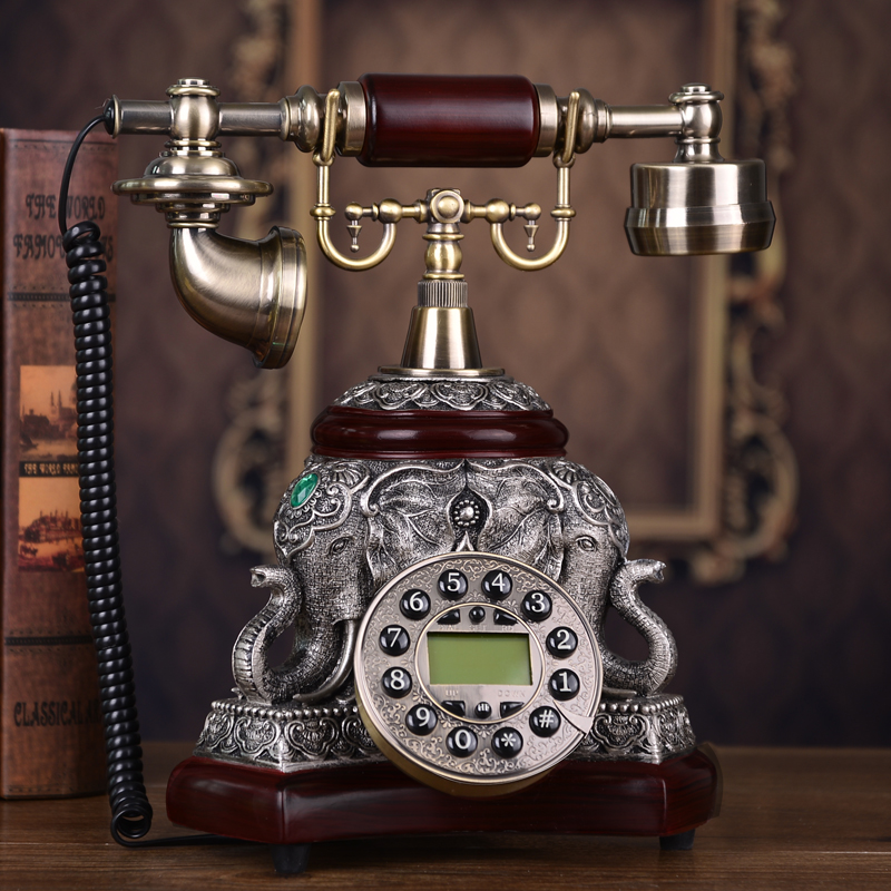 Authentic vintage antique telephone home telephone set of new high-end European style living room corded phone ringing tones