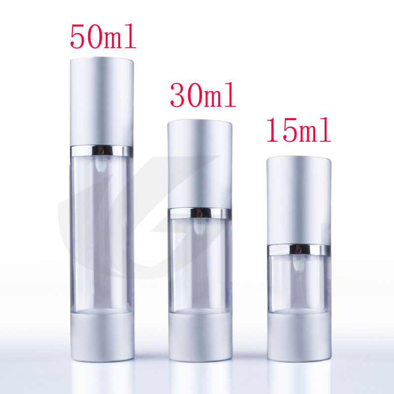 30ml X 20 Luxury Silver Airless Vacuum Pump Cosmetic
