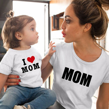 Mother Daughter Tshirt Love Mom Mommy and Me Clothes Family