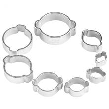 10pcs Clamps Zinc Plated Hose Clamp Stainless Steel Two-ear Pipe Clamp For Woodworking 5-23mm for Fule Petrol Pipe Tube