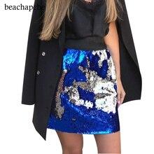 Women Skirt Sexy High Waist Party Glitter Mini Skirt Bodycon Black Sequin  Skirt Sexy Petite Tight a0548ac75b61